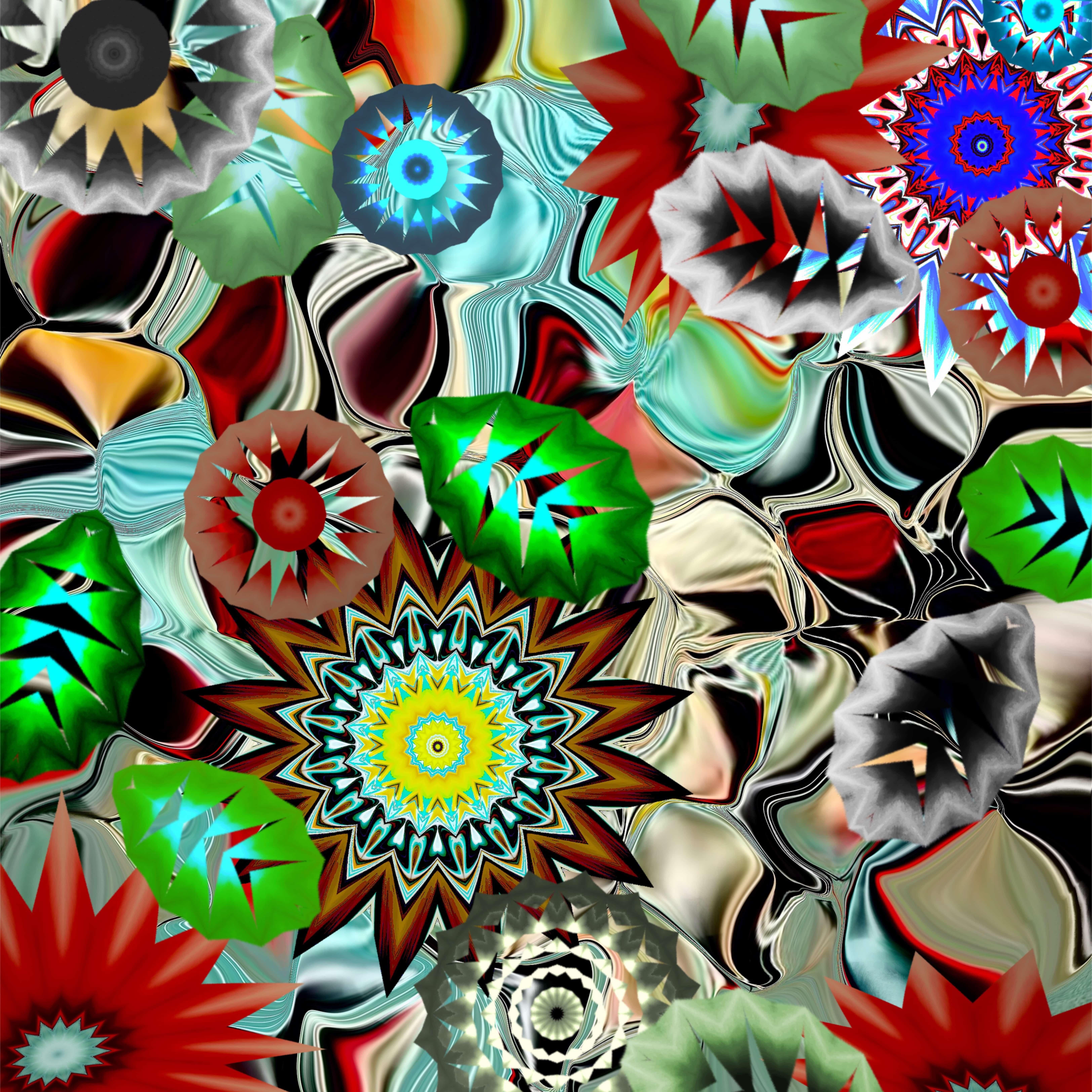 CAN'T GET NO SLEEP<br>Digital Art Print Under Acrylic Glass<br>Print Size : 15'' x 15''
